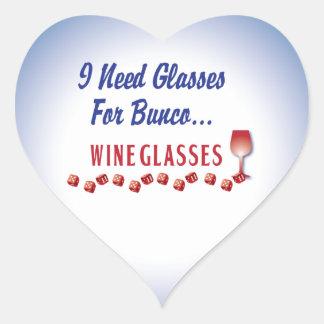 Necesito los vidrios para las copas de vino del pegatina en forma de corazón