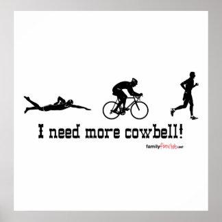 Necesito más camiseta del cencerro póster