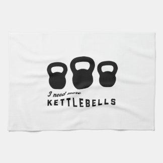 Necesito más Kettlebells Toallas