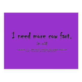Necesito más vaca fart. ¡Es fría! Postal