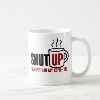 Necesito mi café taza básica blanca