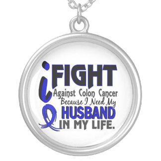 Necesito mi cáncer de colon del marido collar plateado