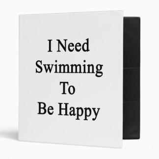 Necesito nadar para ser feliz