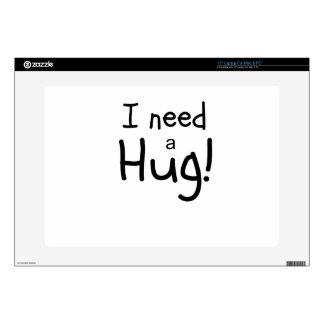 ¡Necesito un abrazo!  Arte minimalista Calcomanía Para 38,1cm Portátil