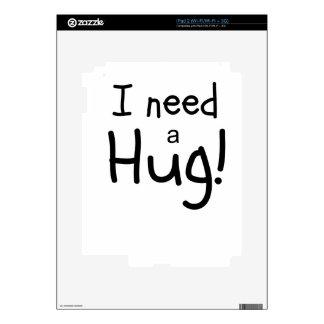 ¡Necesito un abrazo!  Arte minimalista iPad 2 Skins