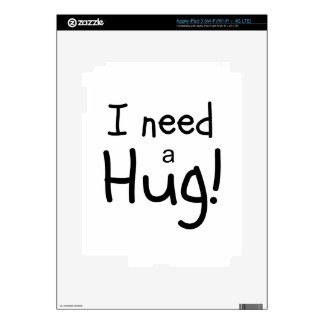 ¡Necesito un abrazo!  Arte minimalista Pegatina Skin Para iPad 3