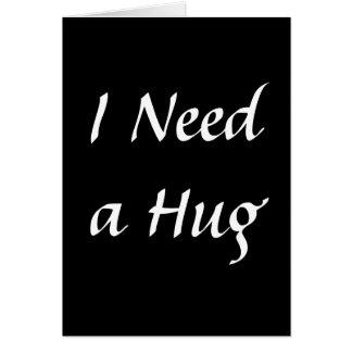 Necesito un abrazo tarjetón