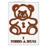 Necesito un oso Brown del abrazo los regalos de Za Tarjetón