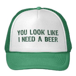 Necesito una cerveza gorra