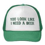 Necesito una cerveza gorro de camionero