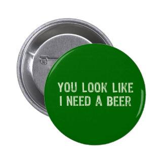 Necesito una cerveza pins