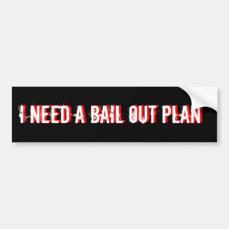 necesito una GARANTÍA planeo negro Pegatina Para Auto