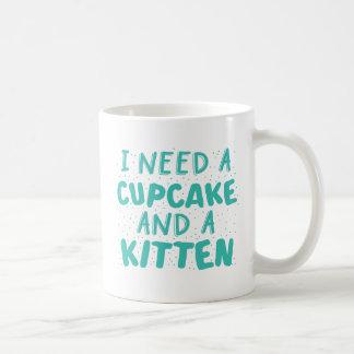 necesito una magdalena y un gatito taza