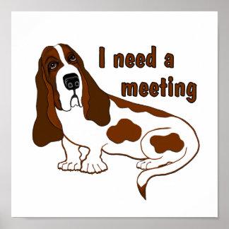 Necesito una reunión poster