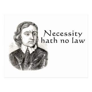 Necessity Hath No Law Post Cards