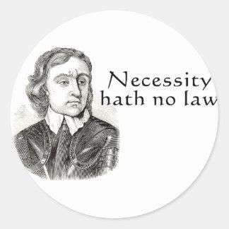 Necessity Hath No Law Stickers