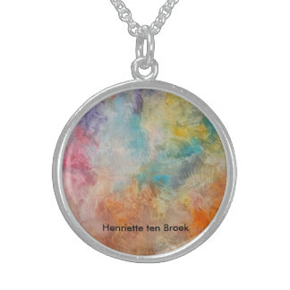 neck collar with vigorous colours sterling silver necklace