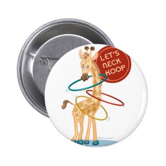 Neck Hooping Giraffe: Buttons