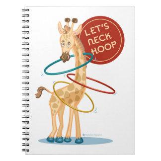 Neck Hooping Giraffe Notebook