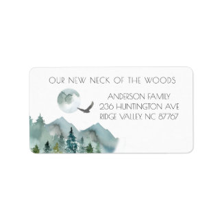 Neck of the Woods New Address Label