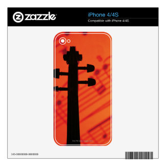 Neck of Violin Decals For iPhone 4S