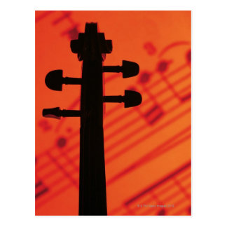 Neck of Violin Postcard