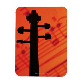 Neck of Violin Flexible Magnet