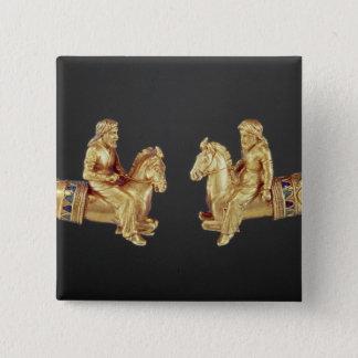 Neck ring in the form of Scythian horsemen Pinback Button