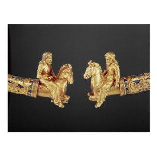 Neck ring in the form of Scythian horsemen Postcard