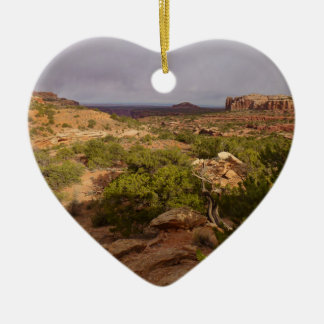 Neck Springs Trail at Canyonlands National Park Ceramic Ornament