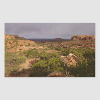 Neck Springs Trail at Canyonlands National Park Rectangular Sticker