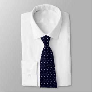 Neck Tie Dark Blue with White Dots