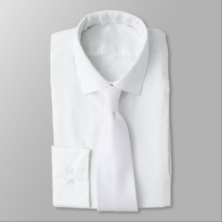 Neck Tie - Ghost White