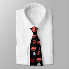 Neck Tie - Rbcs W A Splash Of Wbcs On Black at Zazzle