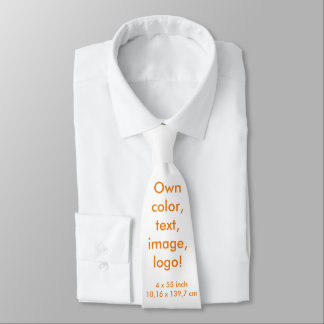 Neck Tie uni White ~ Own Color