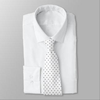 Neck Tie White with Dark Blue Dots