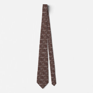 Neck Tie with Brown Abstract Design