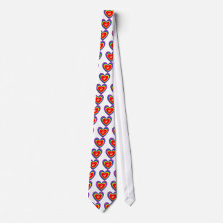 Neck Tie With Rainbow Hearts and 2 Wedding Rings