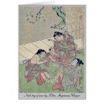 Neck tug of war by Kitao, Shigemasa Ukiyoe Cards