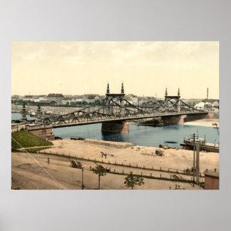 Neckar Bridge, Mannheim, Germany Poster