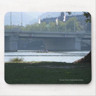 Neckar River Bridge Mouse Pad
