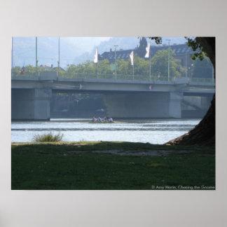 Neckar River Bridge Poster