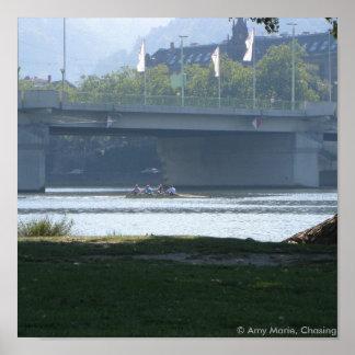 Neckar River Bridge Posters