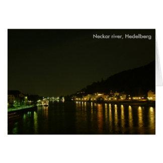 Neckar River (Night) Card