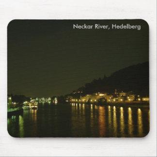 Neckar River (Night) Mouse Pad