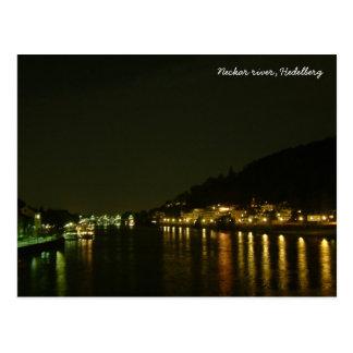 Neckar River (Night) Postcard