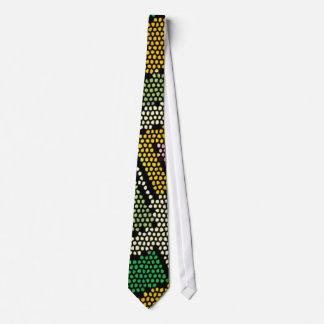 Neckie verde y amarillo peculiar e inusual corbata