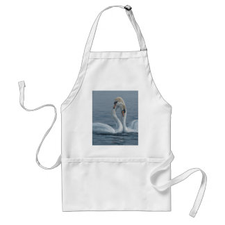 Necking Swans by Terry Isaac Adult Apron