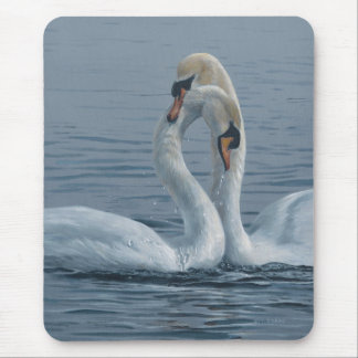Necking Swans by Terry Isaac Mouse Pad