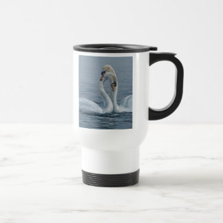 Necking Swans by Terry Isaac Travel Mug